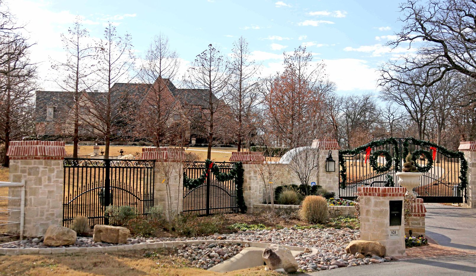 The residence of Rex Tillerson off of Dove Creek Road in Bartonville, Texas, photographed on Wednesday, January 4, 2017.
