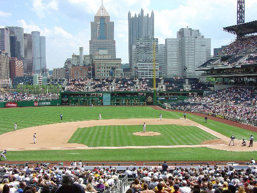 Pittsburgh's retro-style PNC Park sits across the Allegheny River from downtown. The river is 443 feet from home plate, and some fans arrive at the game by boat.  The view is widely regarded as the best in baseball.