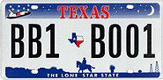 Texas license plates introduced in 2000.