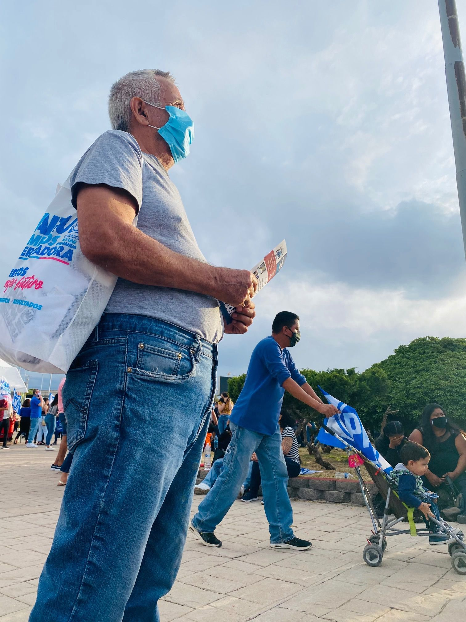 Bernardo Carrillo, 71, attended a June 2 rally for the National Action Party, or PAN. He has supported PAN for more than three decades and is fearful of the rise of President Andrés Manuel López Obrador's party, Morena.