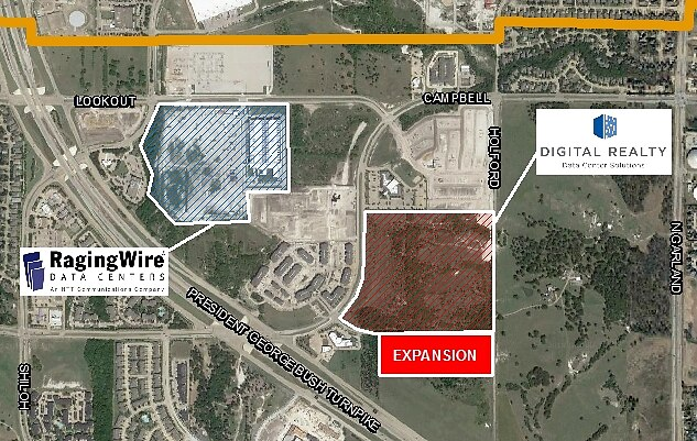Digital Realty and RagingWire both have large data center projects in Garland.