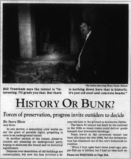 Snip of Steve Blow article published Jan. 14, 1988.