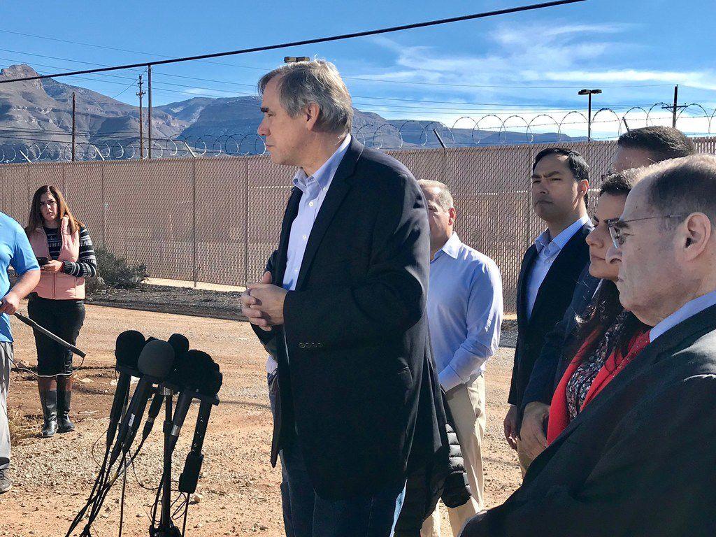 "U.S, Sen. Jeff Merkley of Oregon described President Trump's immigration policies as a ""war on migrant children."" He joined other Democrats in touring Border Patrol facilities in Alamogordo."