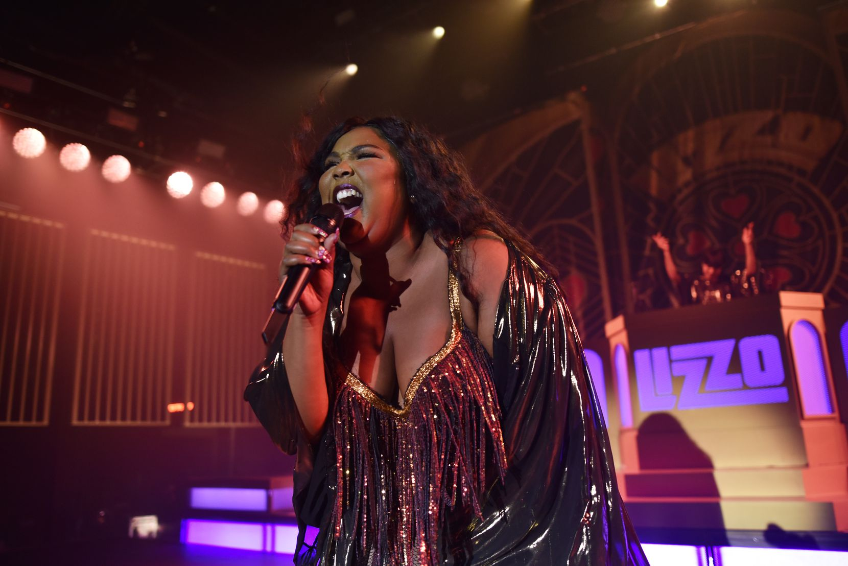 Lizzo performs at the Southside Ballroom in Dallas on Saturday evening Oct. 5, 2019.
