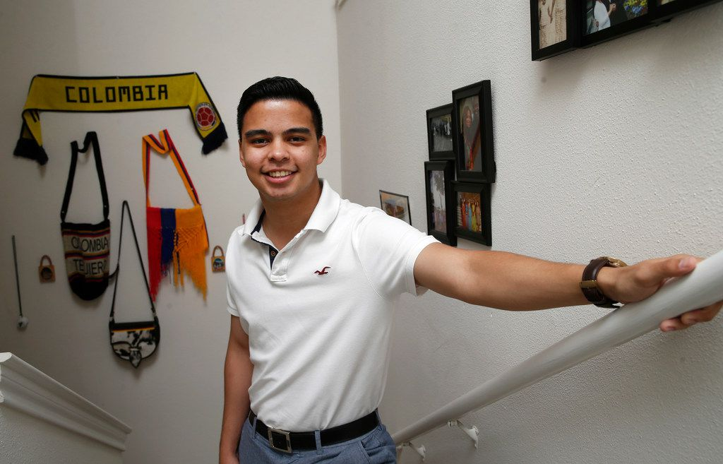 Christian Quintero poses for a portrait at his home in Richardson, Texas, on Thursday, June 13, 2019. Quintero is a Dreamer from Colombia, currently attending the University of Texas at Dallas.