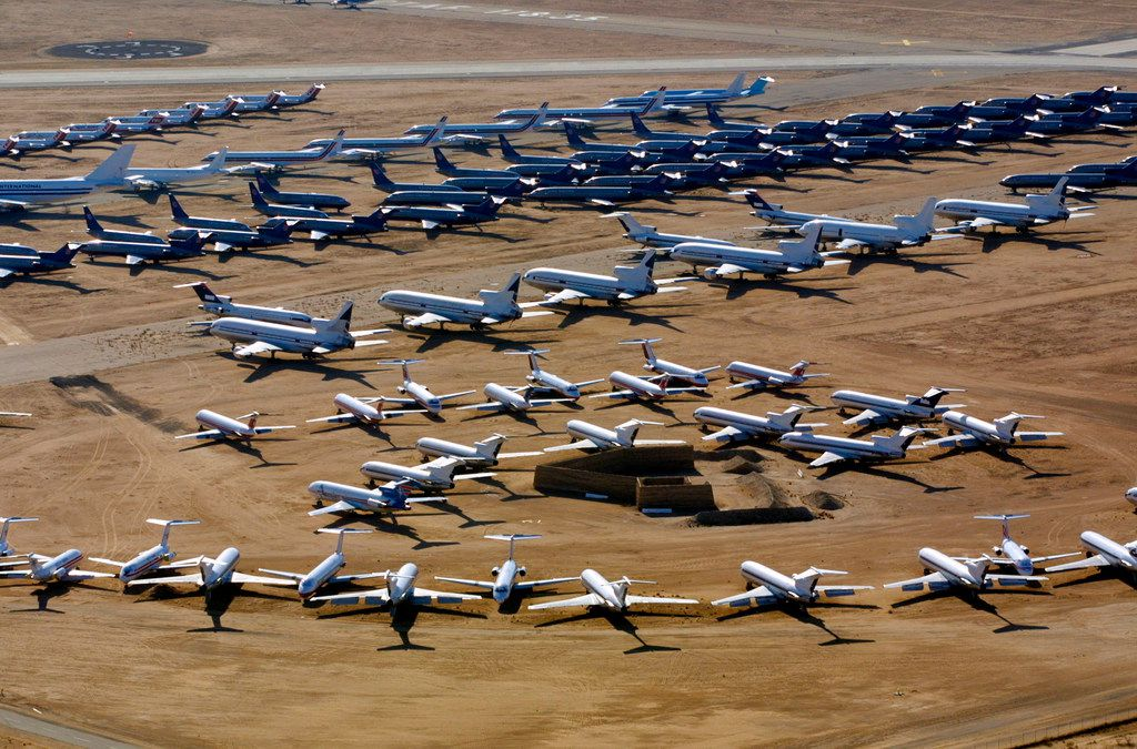 Many retired aircraft have made their way to the Southern California Logistics Airport in Victorville.