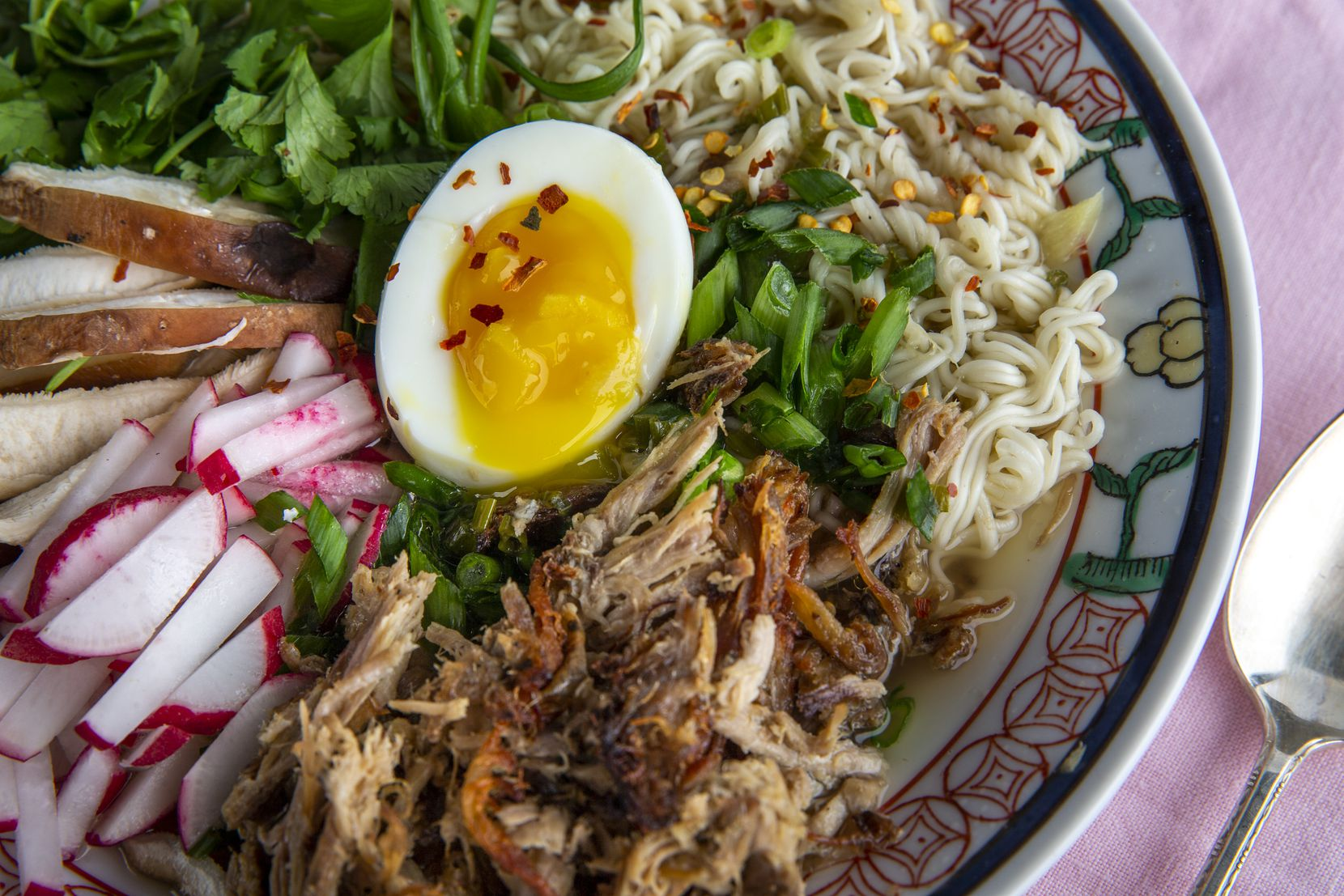 Spicy Pork Ramen is made with Pineapple Pork from the Instant Pot.