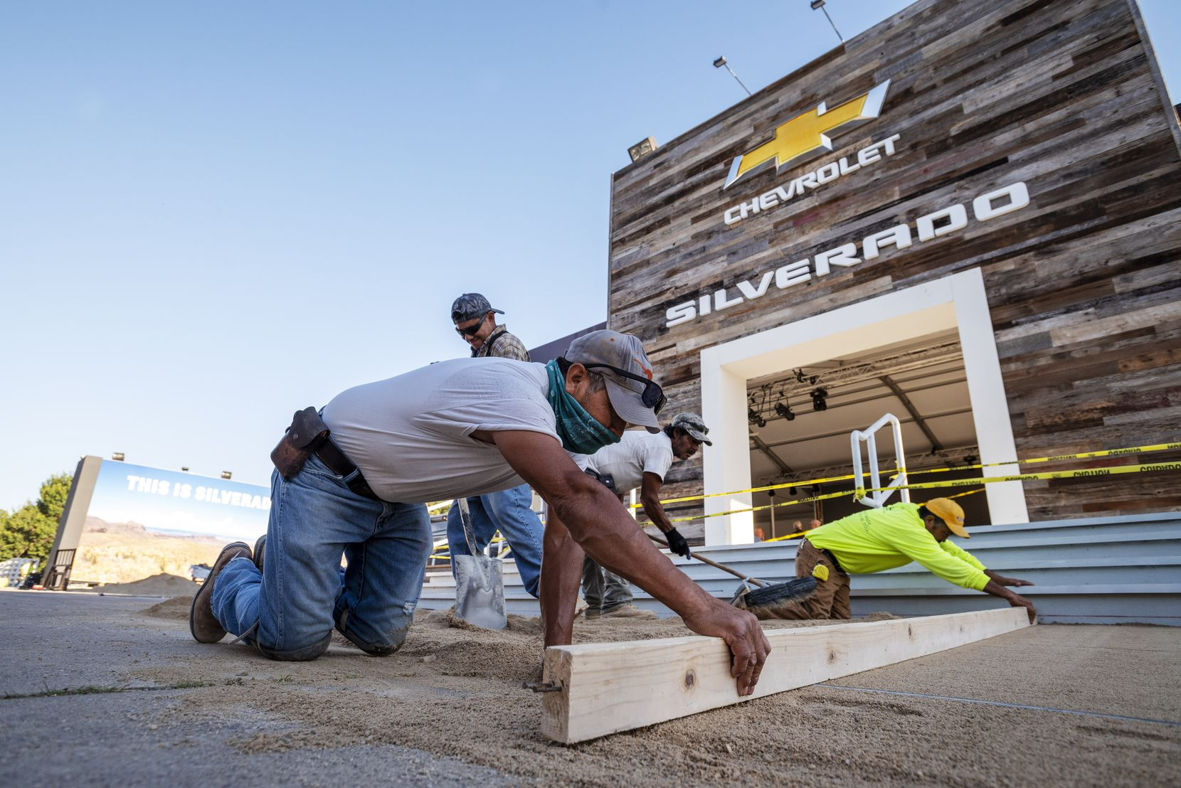 The Chevrolet Silverado will be a prominent player at the upcoming auto show at the State Fair of Texas. A work crew laid down a brick pathway this week as part of the exhibit.