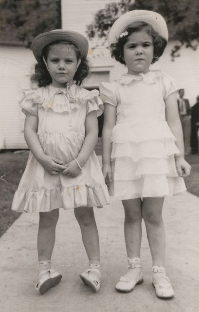 Cousins Sandra and Lillian Liston (now Lynch), in a Decoration Day photo taken in the early 1950s. Before the 134-year-old Kaufman County event was canceled this year because of COVID-19 concerns, Lynch had taken over the chocolate pudding that her mother used to make and expects her own daughter will do the same in future years.