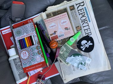 The seat pockets of Tyra's minivan contained a treasure trove of memories from the decade her family owned the van.