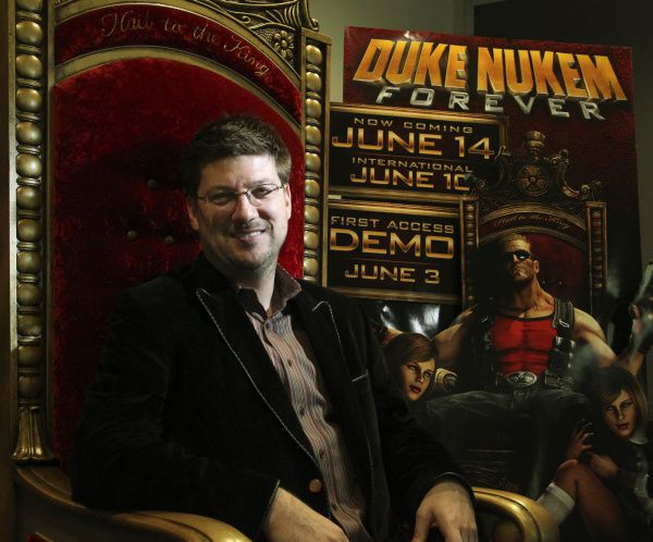 Gearbox Software chief executive Randy Pitchford says an emotional connection with the character led him to take on the task of bringing to market 'Duke Nukem Forever,' a video game sequel that was originally scheduled for release in 1998.