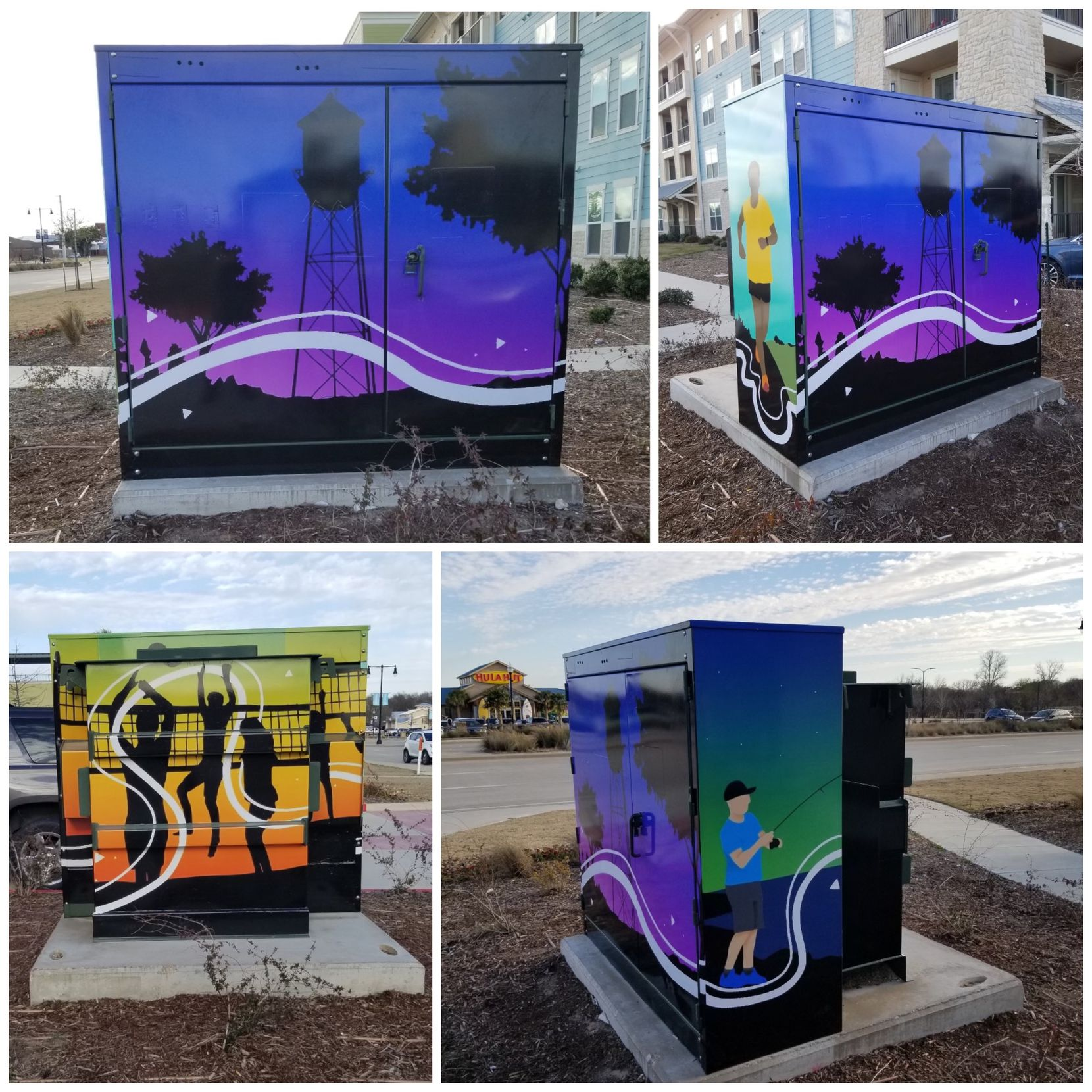The town of Little Elm partnered with the local Signarama to wrap public utility boxes in an attempt to color the town.