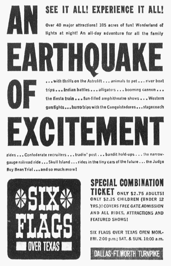 Ad from September 1961 ran in The Dallas Morning News.