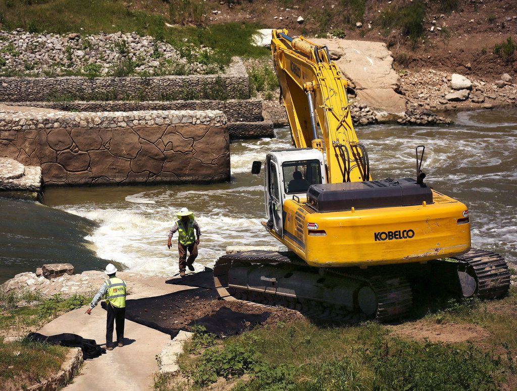 On June 14, 2018, contractors began their partial removal of the whitewater feature in the Trinity River that opened in the spring of 2011 and was closed in a matter of days after the U.S. Army Corps of Engineers said it rendered the river unnavigable.