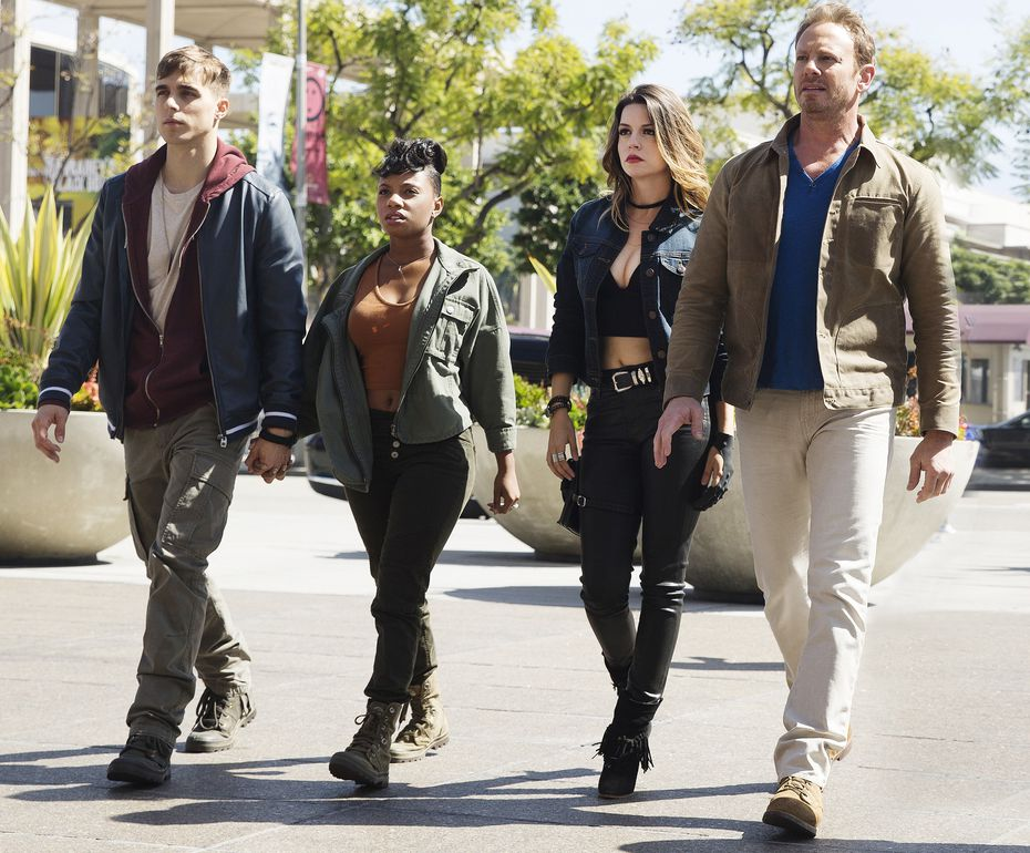 Cody Linely as Matt Shepard, Imani Hakim as Gabrielle, Masiela Lusha as Gemini, Ian Ziering as Fin Shepard give it that slow-motion action str