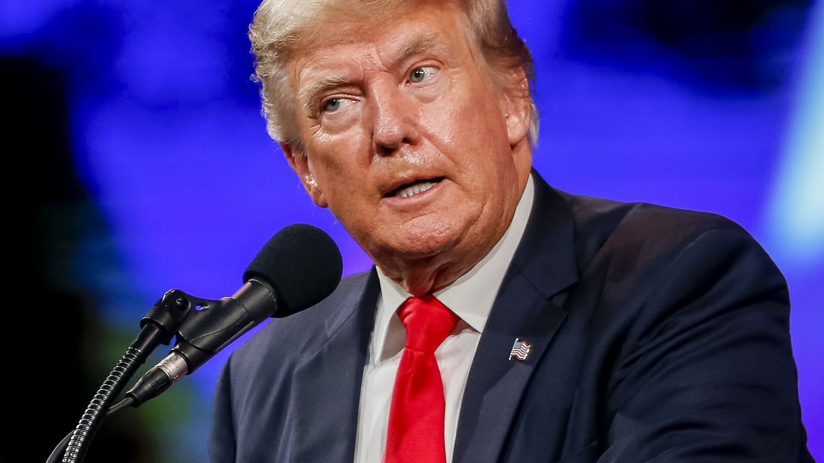 Judging from his sometimes-incendiary open letters and written statements, former President Donald Trump has acquired an intense interest in the Texas Legislature. A lot of people in Austin are wondering why – and who's behind it. In File Photo, Trump speaks at the Conservative Political Action Conference in Dallas in July.