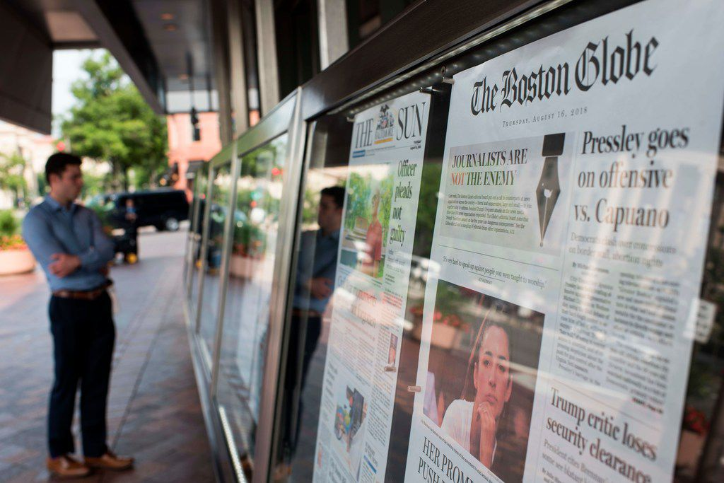 U.S. newspapers big and small hit back Aug. 16 at President Donald Trump's relentless attacks on the news media with a coordinated campaign of editorials.