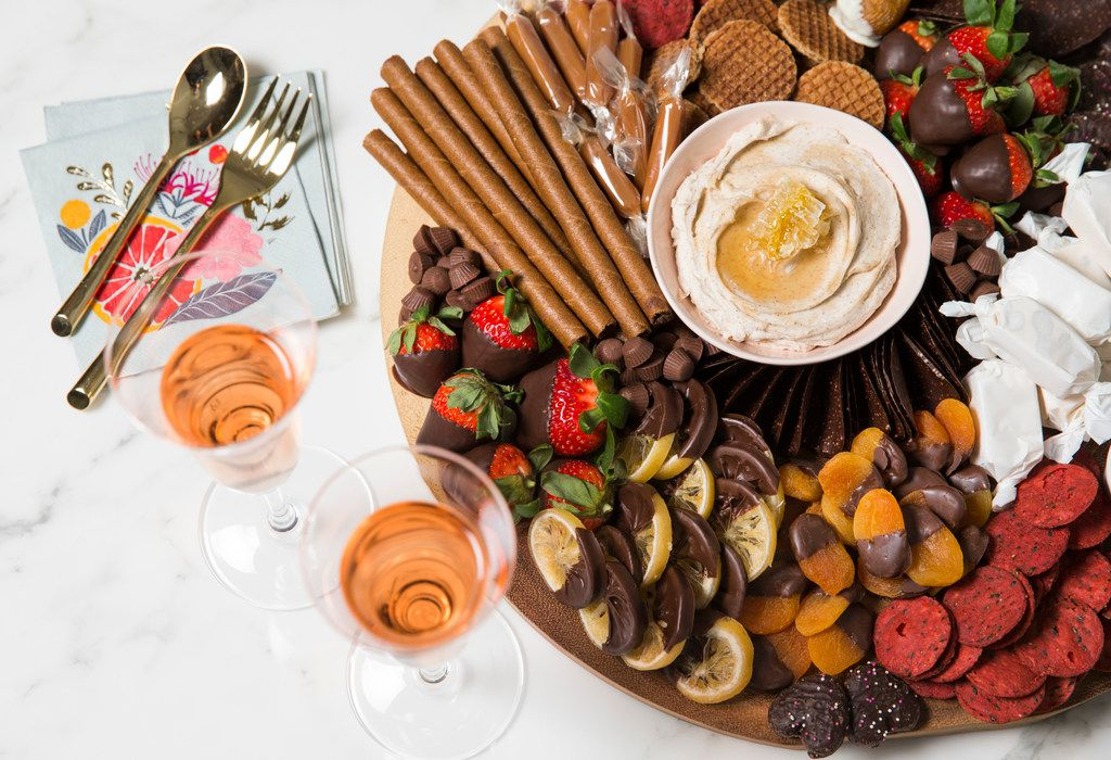 A chocolate dessert board at the home of Kristen Massad