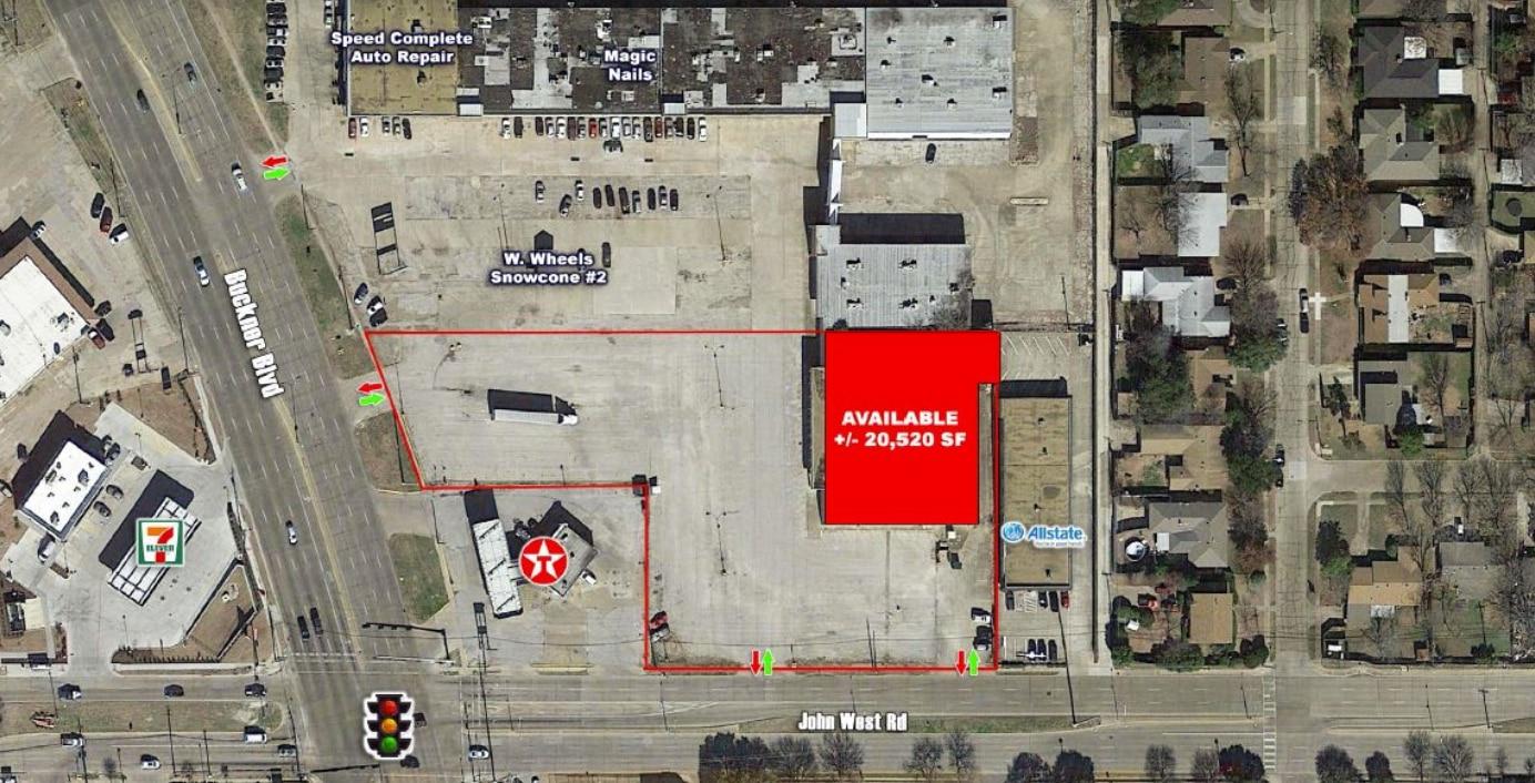 Esta captura de pantalla del sitio web de Vista Property muestra el área que será transformada con un supermercado Rio Grande.