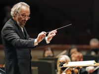 """Guest conductor Carlos Kalmar leads the Dallas Symphony Orchestra in a performance of Beethoven's """"Emperor"""" Concerto, with pianist Garrick Ohlsson as soloist, at the Meyerson Symphony Center in Dallas on Oct. 14."""