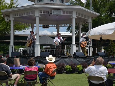 A concert at Grapevine's Town Square Gazebo during the Grapevine Main Street Festival in 2019. The outdoor concerts in Grapevine are one of the options for socially distanced date nights in the city.