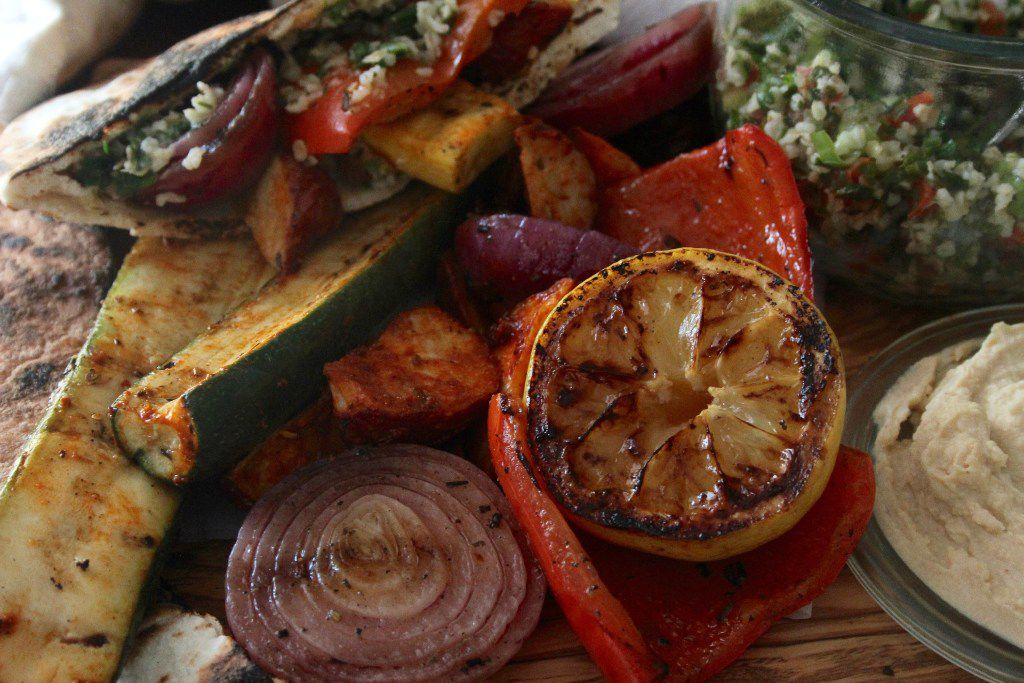 Harissa Marinated Grilled Vegetables