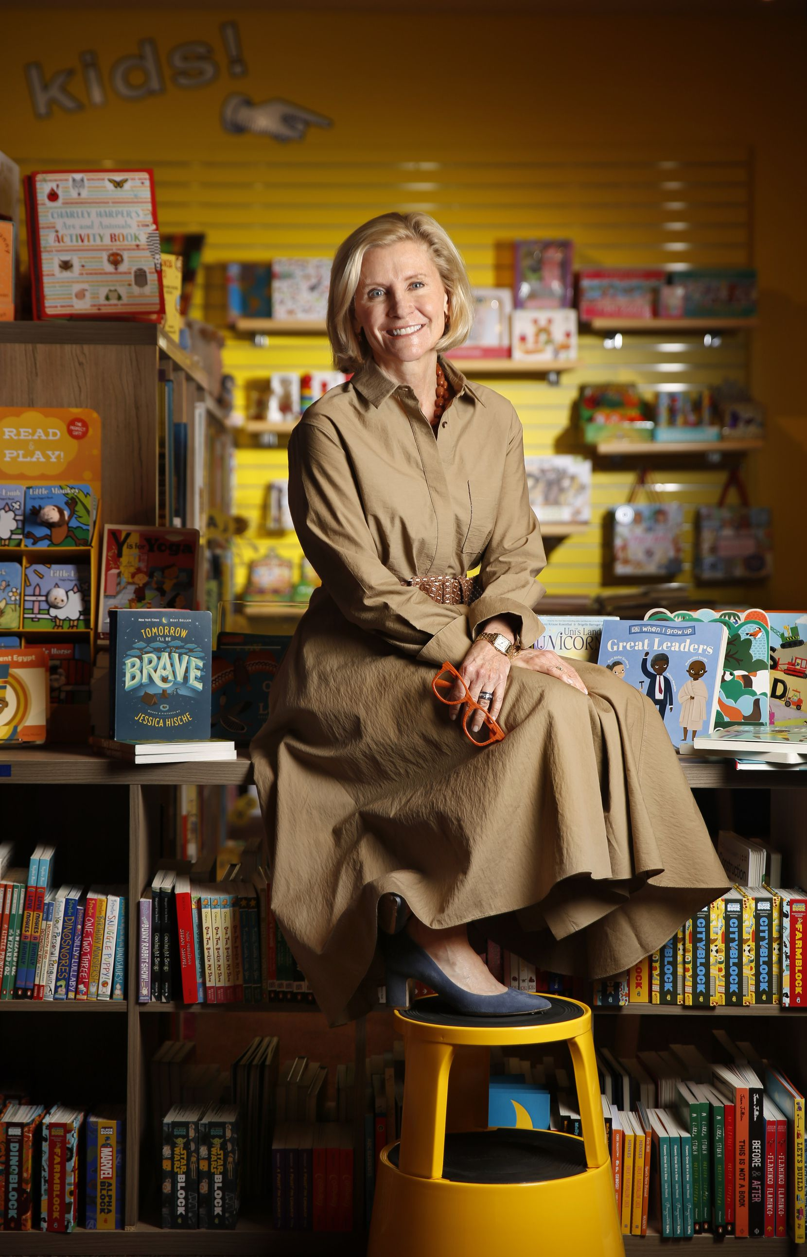Nancy Perot, photographed in the store she owns, Interabang Books, on Lovers Lane in Dallas, Saturday March 14, 2020.