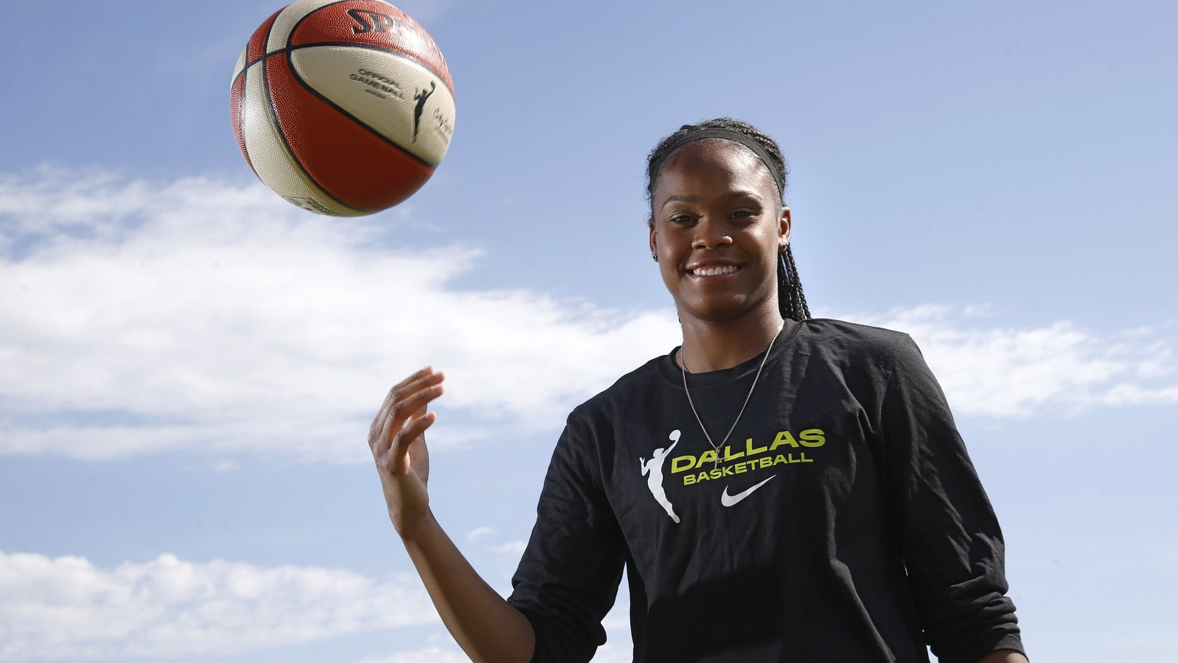 Dallas Wings Moriah Jefferson poses for a portrait near her home in Frisco on Wednesday, May 27, 2020.