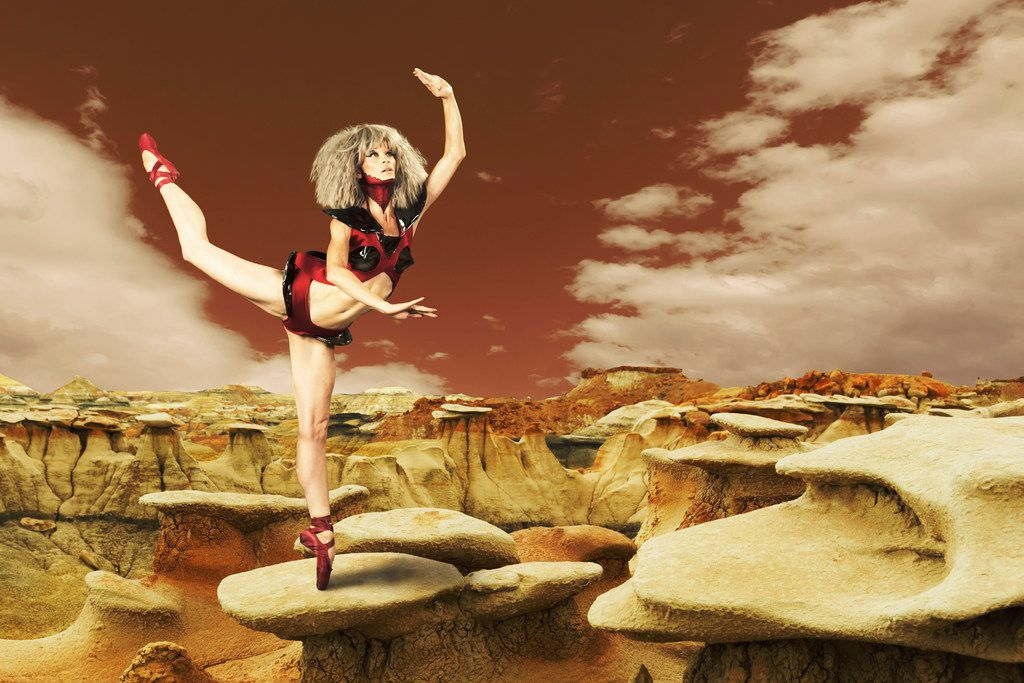 Lea Zablocki in a promotional shot for Cosmic Fiction,  Dallas Neo-Classical Ballet's program of sci-fi themed premieres.