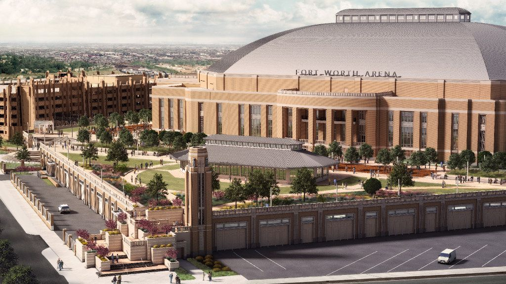 Rendering of the new Multipurpose Arena Fort Worth scheduled to open in 2019. This is how it will look from the east.