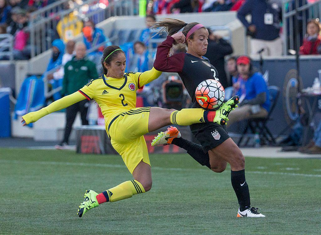 Carolina Arbeláez es seleccionada de Colombia y entrena en el Indoor Soccer World del Norte de Texas. (Photo by Mitchell Leff/Getty Images)