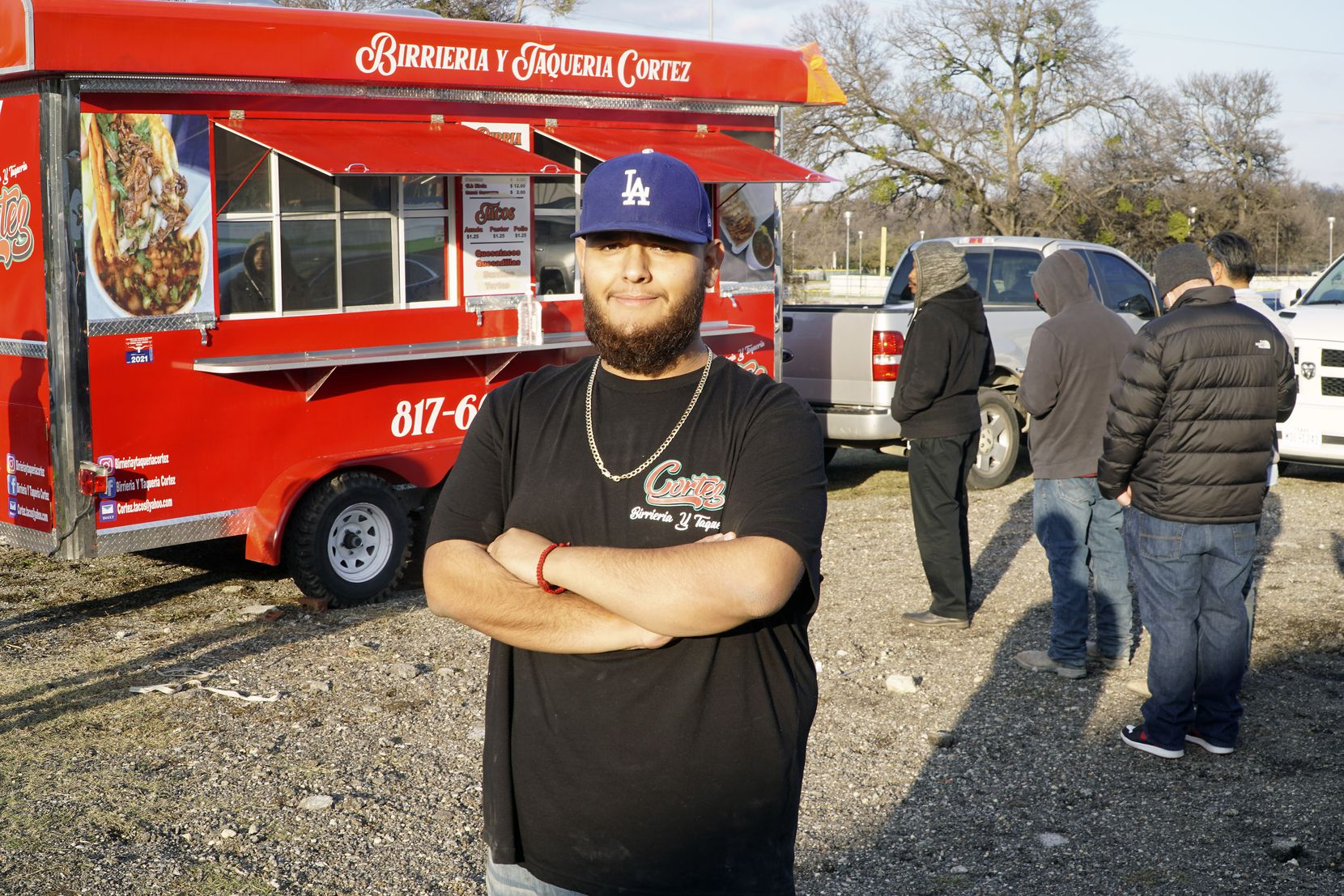 Rogelio Cortez Jr., owner of Birrieria Y Taqueria Cortez food truck in Fort Worth