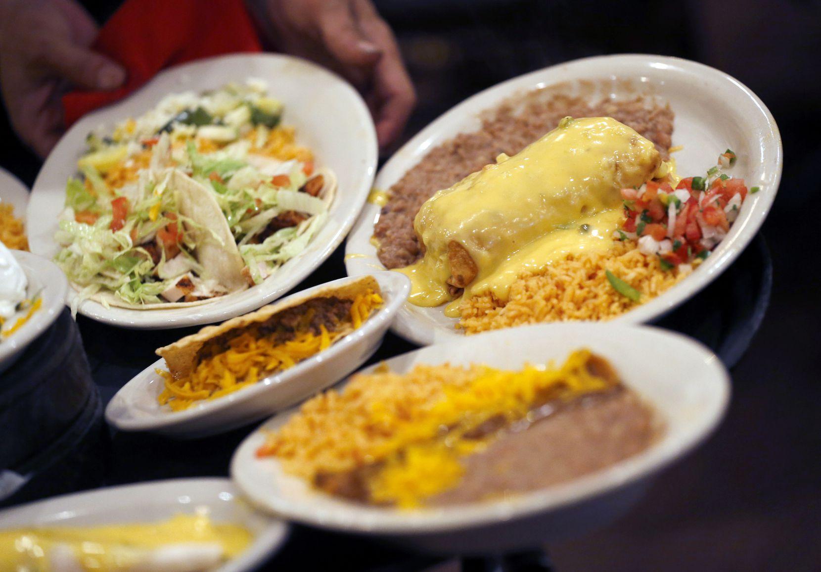 Cheese enchiladas at El Fenix: Nothing fancy. Always good.