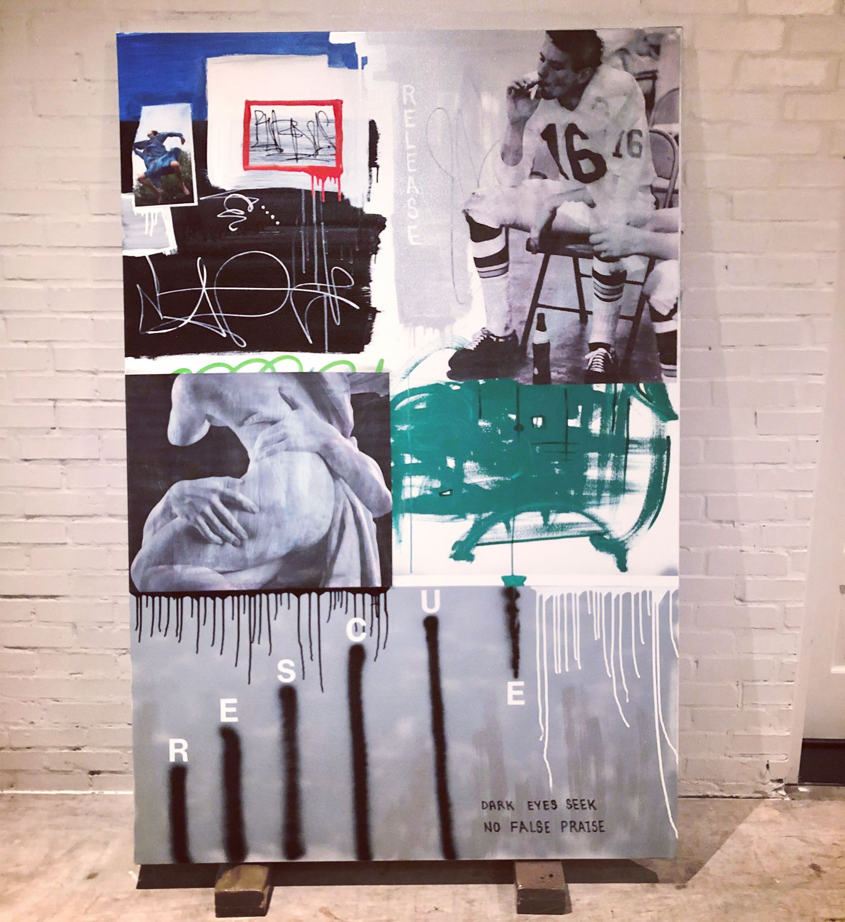 The work of William Atkinson contains elements of abstract expressionism, street art, graffiti, reappropriated imagery and typography.