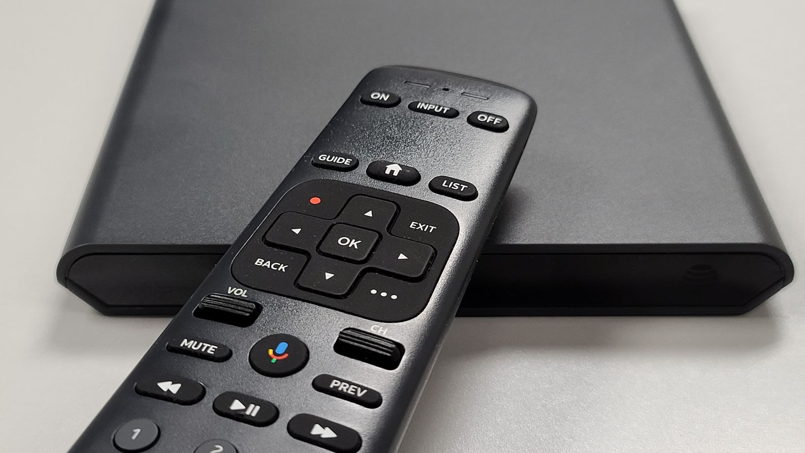 AT&T TV box and remote pictured. AT&T launched its new AT&T TV product Monday March 2, 2020. It hopes the service will appeal to subscribers fleeing from tradition pay-TV providers like its own DirecTV business.
