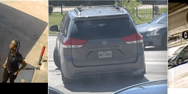 Dallas police are asking for the public's help identifying two men who got out of a silver Toyota minivan with Texas license plate NKV-5942 as well as a third person of interest who left the area in a red Chevrolet Cruze.