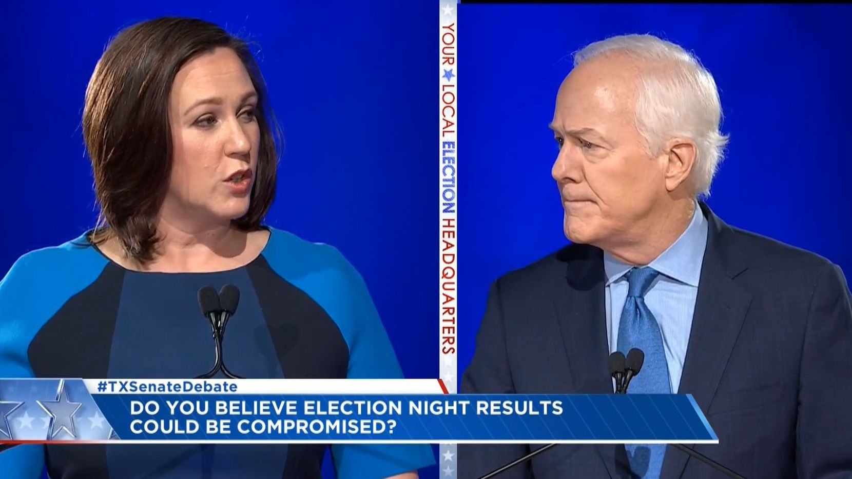 Republican U.S. Sen. John Cornyn and Democratic Senate candidate MJ Hegar are clashing over Hegar's use of curse words.