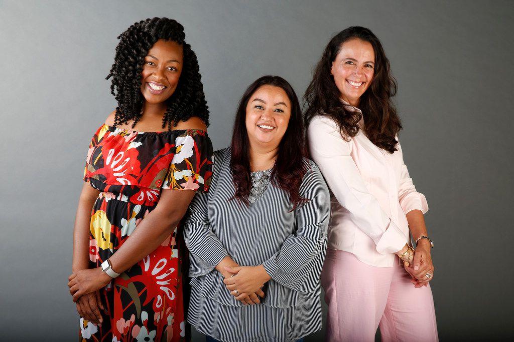 From left: Tiffany Derry, Anastacia Quiñones and Dunia Borga