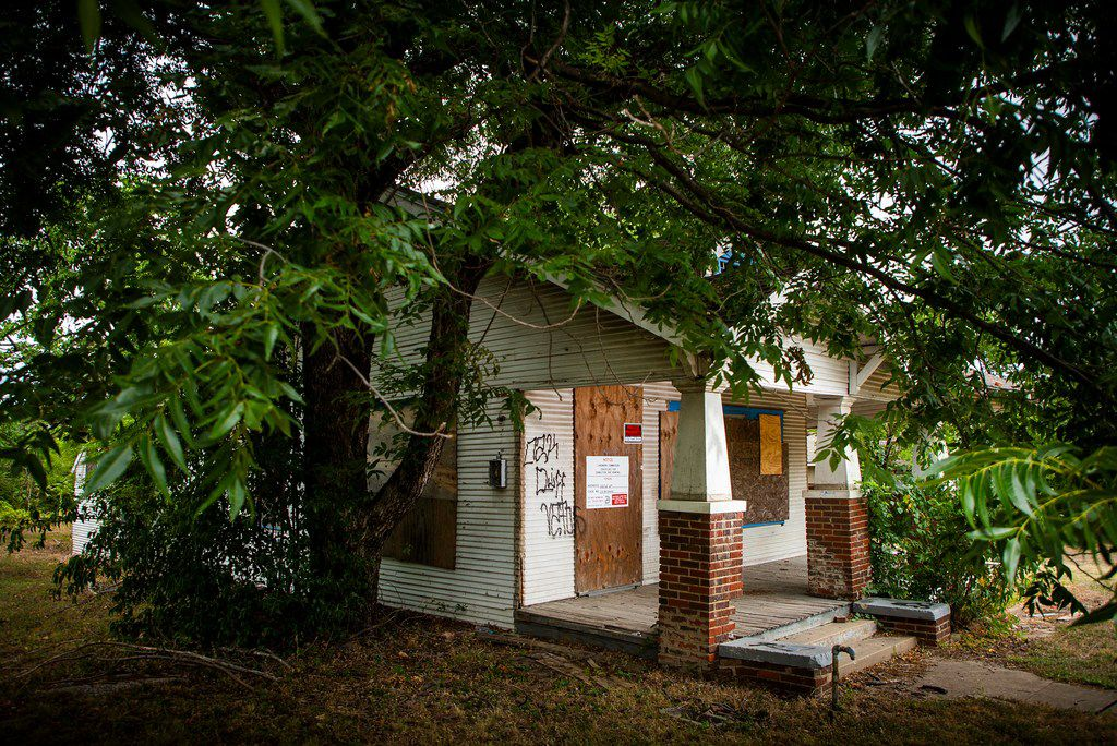 This is Elizabeth Lloyd's house at 1107 E. 11th St. She is convinced the city wants the land, not the house.