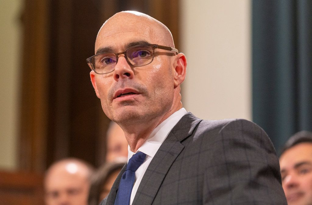 House Speaker Dennis Bonnen is being sued by the Texas Democratic Party over an allegation that he created an unregistered political action committee and committed other state election law violations during a June 12 meeting with conservative activist Michael Quinn Sullivan, who is also being sued.