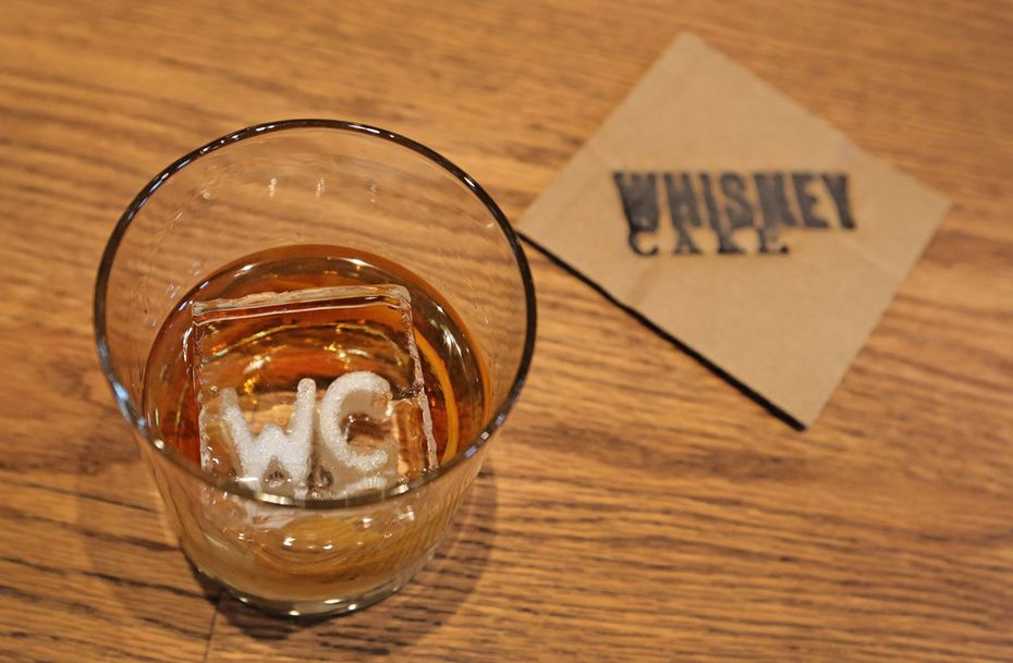Whiskey Cake doesn't have bar napkins; they use recycled boxes as coasters.