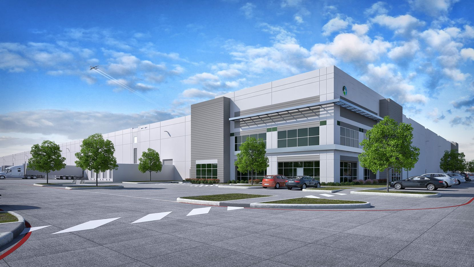 Prologis' Mustang Park has two warehouse buildings.