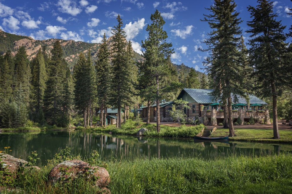 The lodge at the Ranch at Emerald Valley was enlarged and restored after the property changed hands in 2011.