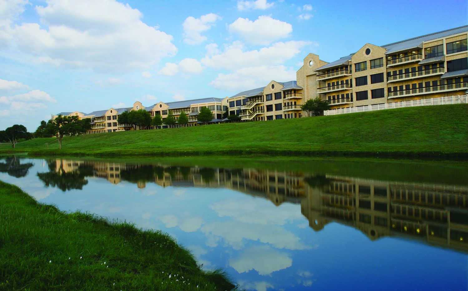 The Riverside Commons office campus is on State Highway 114 in Las Colinas.