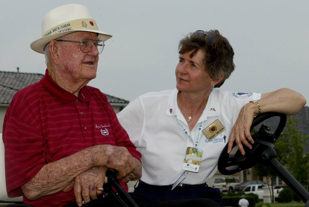 Byron and Peggy Nelson in 2003.