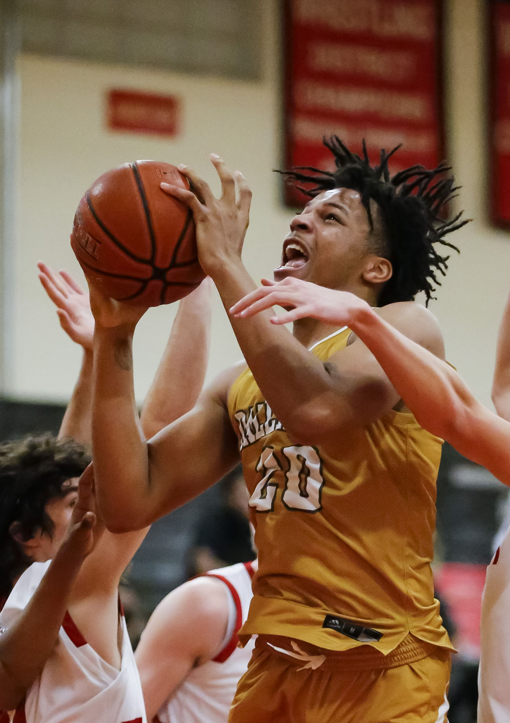 South Oak Cliff senior guard Corey Flowers battles the Lovejoy defense during the second half of a Class 5A area-round playoff basketball game at Lake Highlands High School in Dallas, Wednesday, February 24, 2021.  South oak Cliff won 46-44. (Brandon Wade/Special Contributor)