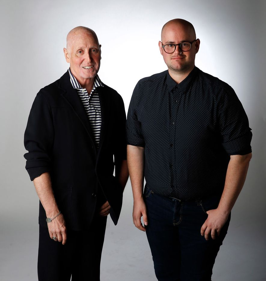 Rawlins Gilliland (left) and Forrest Milburn pose for a portrait in studio in Dallas on Monday, June 11, 2018. (Vernon Bryant/The Dallas Morning News)