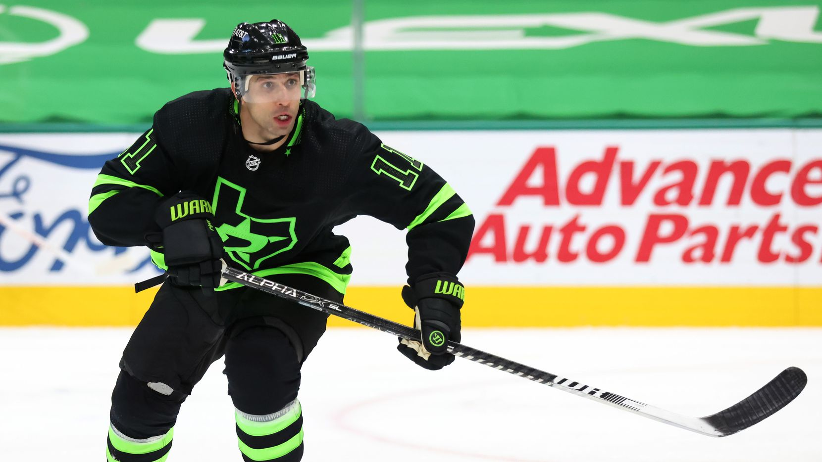 Dallas Stars center Andrew Cogliano (11) in a game against the Detroit Red Wings during the third period of play at American Airlines Center on Thursday, January 28, 2021in Dallas.