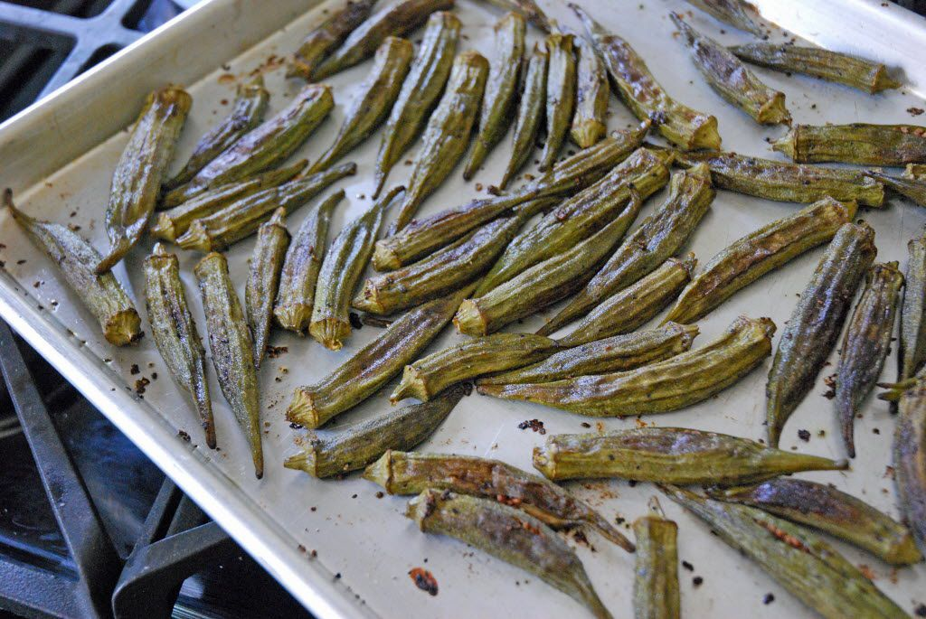 Roasted Okra from Universal Uclick is a healthy way to cook okra.