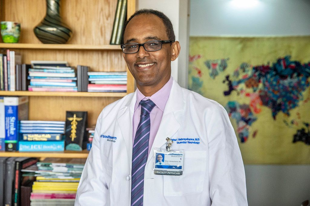 "Dr. Mehari Gebreyohanns, a UT Southwestern neurologist, coined a term for ""stroke"" in Amharic, a language spoken by native Ethiopians."
